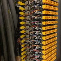 Raccordement câble cuivre telecom 120 paires - réglette pouyet