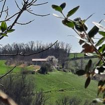 Vue sur l'échappée trémoussante depuis la chapelle de Sainte-Euphémie
