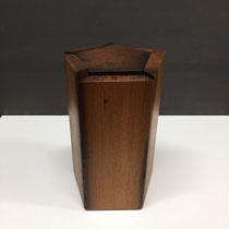Urne fünfeckig aus Eiche Altholz, geölt, 4,2l, (nicht mehr verfügbar)