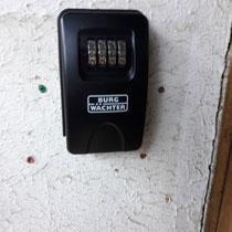 coffre à clef extérieur à code