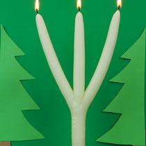 Schwedische Weihnachtskerze - Licht wie bei Petterson und Findus in der Weihnachtsgeschichte, www.brauchtumskerzen.de