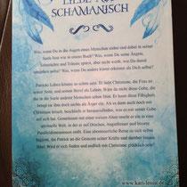 Klappentext auf der Rückseite des Buches
