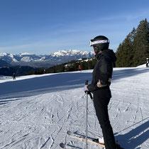 Amber on skis