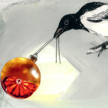 Weihnachtskarte Diakonie Oldenburg/ Elster#Weihnachtskugel#Collage