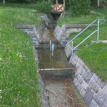 Kneippanlage in 87534 Oberstaufen- hinter dem Kurhaus im Staufenpark (Oberallgäu)