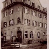 """Gaststätte am Friedhof - heute """"Neue Schranne"""" - 1912"""