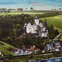 Mainberg mit Schloss um 1910