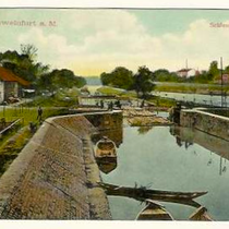 Die Schleuse in Schweinfurt im Jahre 1912