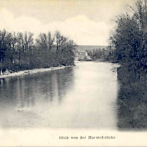 Blick von der Marienbrücke Anfang des 20. Jahrhunderts