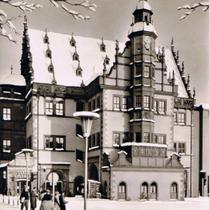 Rathaus im Winter um 1960