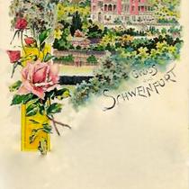 Grußkarte mit Villa Gademann um 1904