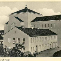 St. Antonkirche vor dem Bau des Kirchturmes