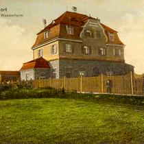 Wasserhaus am Wasserturm - coloriert um 1916