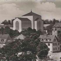 St. Antonkirche - noch ohne Turm - 1956