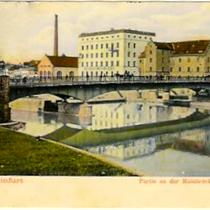 Partie an der Mainbrücke um 1910