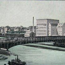 Die Maxbrücke um 1900