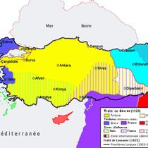 Découpage de la Turquie lors du Traité de Sèvres (1919)