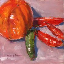 Tomato and Serranos - Sold