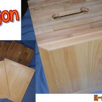 旅先でも持ち運べる、組み立て式カホンのご提案です。木組みの技術で、コンパクトさを実現しました。