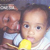 Timbre poste de Micronésie