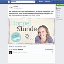 Facebook Ankündigung für einen neuen Blog-Eintrag