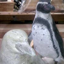 Dunhill, gegossene Beton-Pinguine bemalt