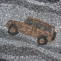 Mercedes Benz, Stein-Imitation, Bemalung von Polyurethanschaum