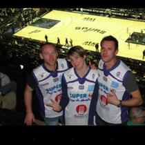 Gilles, Servane et Jérôme au AT and T Center des San Antonio Spurs