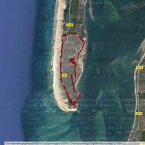 """Le tour du Cap Ferret (on peut voir les """"hésitations du groupe"""")"""