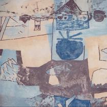 Heinz Trökes, Gestufte Sehräume, Öl auf Leinwand, 1960,  ca. 63,5 x 102 cm