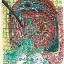 Friedensreich Hundertwasser, Die Seereise I, Orig. Farbradierung, HWG 24 (639), drucksigniert, 1967, Aufl. 200