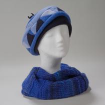 Ording, schicke Basken-Kappe aus drei Blautönen