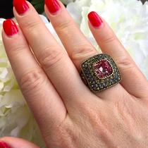 515. Коктейльное кольцо от американского дизайнера HEIDI DAUS. Бронзированный ювелирный сплав, декор CRYSTALLIZED™-Swarovski Elements. Ручная работа, авторский дизайн. Фирменная коробка, пожизненная гарантия. Размер 16.5-17. Цена-90$