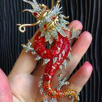 Брошь Дракон от английского бренда Батлер&Вилсон. Позолота 24кт, кристаллы Сваровски.