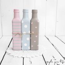 3er set glasflaschen...  (ohne deko)