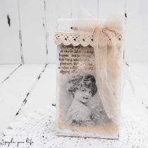 geschenkbox im vintage-style aus tetra-pak...  (ohne deko)