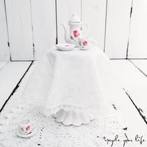 geschenkglas im romantik-look eines bistro-tischchens...  (ohne deko)