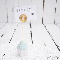 mini-cupcakes aus gips als bilderhalter... (beispielfoto)  (ohne deko)