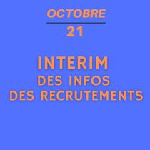 21 octobre - Intérim