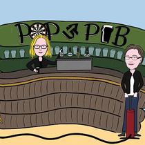 Ein Pub als Event im Kleidergeschäft? - Postkarte & Poster