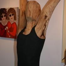 Torso aus Bad Nauheimer Holz, Christa Kleinschmidt