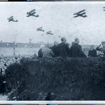 Empfang der Ozeanflieger in Berlin