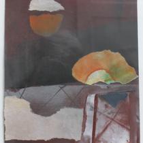 1993, BEGEGNUNG, 23,5 x 28, Enkaustik, Privatbesitz