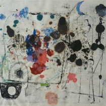 1968, o.T., 35 x 30, Wachsfarbdruck, Privatbesitz Bonn-Alfter