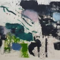 1973, o.T., 54 x 42, Wachsfarbendruck