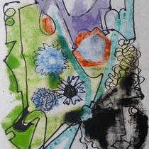 1972, o.T., 32 x 40, Wachsfarbendruck