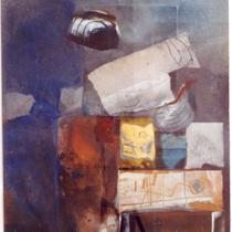 1995, DIE BRÜCKE, 50 x 60, Enkaustik, Privatbesitz