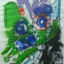 1972, o.T., 43 x 31, Wachsfarbendruck, Privatbesitz Bonn-Alfter