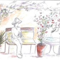 Dessin d'ambiance du jardin