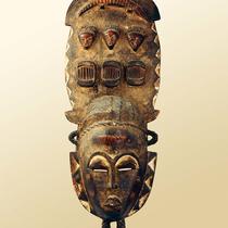 Masque de chasse et d'esprit des ancêtres Gouro-Yaouré
